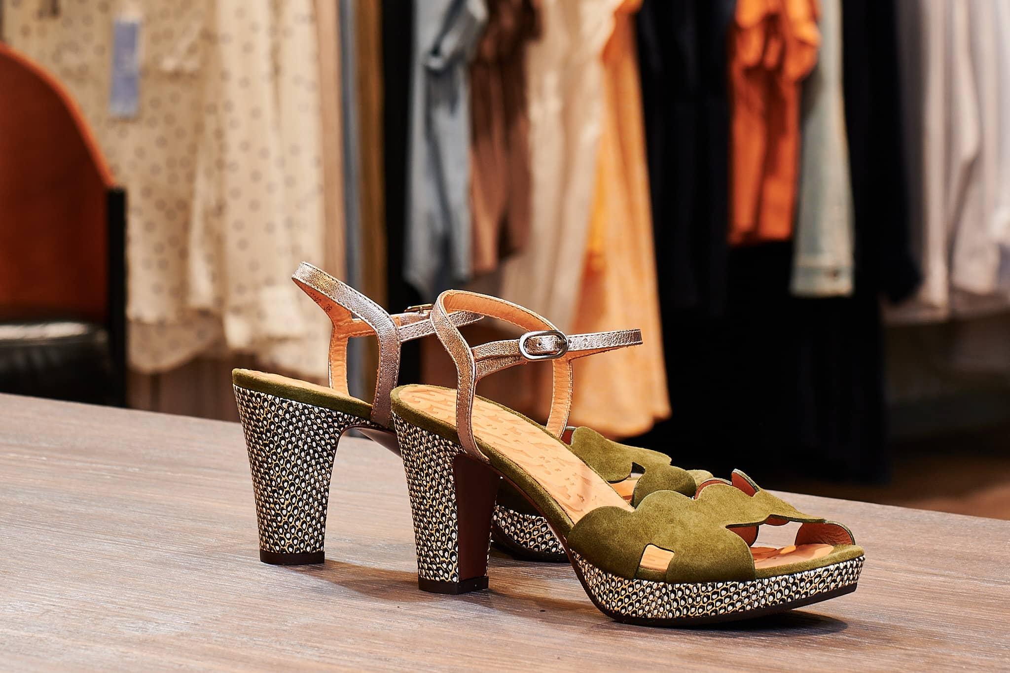 Chie Mihara Sandalette Grün
